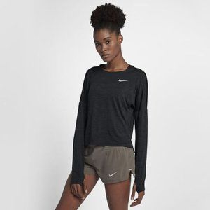 NIKE Dri-Fit Long Sleeved Grey Running Top